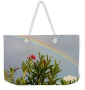 Rainbow Over Flower Weekender Tote Bag