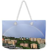 rainbow over Genova Weekender Tote Bag