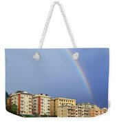 Rainbow Over The Town Weekender Tote Bag