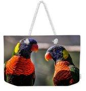 Rainbow Parrot Weekender Tote Bag