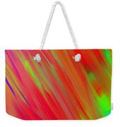 Rainbow Passion Abstract Upper Left Weekender Tote Bag