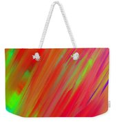 Rainbow Passion Abstract Upper Right Weekender Tote Bag