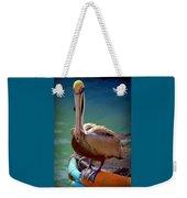 Rainbow Pelican Weekender Tote Bag