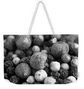 Rainbow Peppercorn Macro Black And White Weekender Tote Bag
