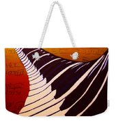 Rainbow Piano Keyboard Twist In Acrylic Paint With Sheet Music Notes In Blue Yellow Orange Red Weekender Tote Bag