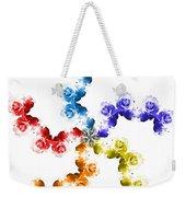 Rainbow Roses In White Weekender Tote Bag