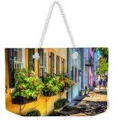 Rainbow Row Weekender Tote Bag