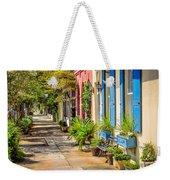 Rainbow Row Sidewalk Weekender Tote Bag