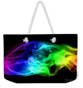 Rainbow Smoke Weekender Tote Bag