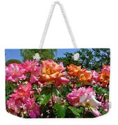 Rainbow Sorbet Roses Weekender Tote Bag by Denise Mazzocco