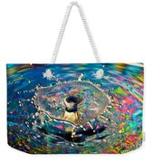 Rainbow Splash Weekender Tote Bag