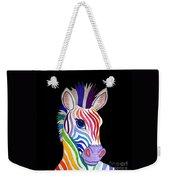 Rainbow Striped Zebra 2 Weekender Tote Bag