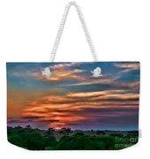 Rainbow Sunset Weekender Tote Bag