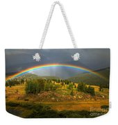 Rainbow Through The Forest Weekender Tote Bag