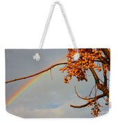 Rainbow Through Tree Weekender Tote Bag