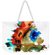 Rainbow Tree 2 - Colorful Abstract Tree Landscape Art Weekender Tote Bag by Sharon Cummings