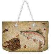 Rainbow Trout-basket Weave Weekender Tote Bag