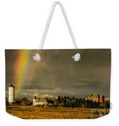 Rainbow Over The Tower Weekender Tote Bag