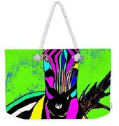 Rainbow Zebra 2 Abstract Weekender Tote Bag