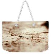 Raindrop Falling On The Street Weekender Tote Bag