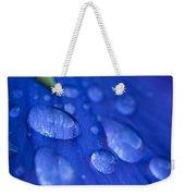 Raindrop Pansy Weekender Tote Bag