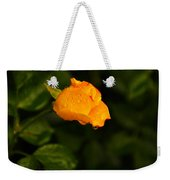Raindrops On A Yellow Rose Weekender Tote Bag