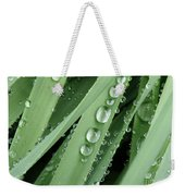 Raindrops On Blades Of Grass Weekender Tote Bag