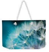 Raindrops On Dandelion Sea Blue Weekender Tote Bag