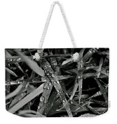 Raindrops On Grass Weekender Tote Bag