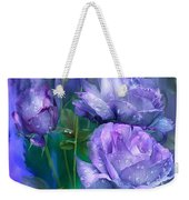 Raindrops On Lavender Roses Weekender Tote Bag