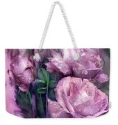Raindrops On Pink Roses Weekender Tote Bag