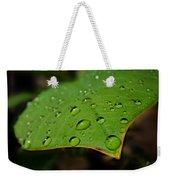 Raindrops On Plumeria Leaf Weekender Tote Bag