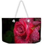 Raindrops On Roses Weekender Tote Bag by Peggy Hughes