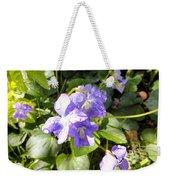 Raindrops On Violets Weekender Tote Bag