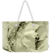 Raindrops On White Rose Weekender Tote Bag