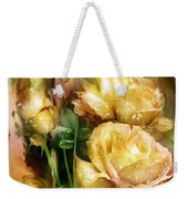 Raindrops On Yellow Roses Weekender Tote Bag