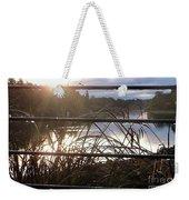 Raindrops To River Sunrise Weekender Tote Bag