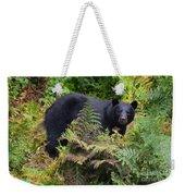 Rainforest Black Bear Weekender Tote Bag