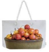 Rainier Cherries And Ceramic Bowl Weekender Tote Bag