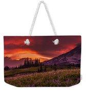 Rainier Fire Mountain Panorama Weekender Tote Bag