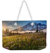 Rainier Golden Sunlit Meadows Weekender Tote Bag