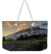 Rainier Purple Lupine Carpet Weekender Tote Bag