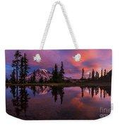 Rainier Soaring Sunrise Reflection Weekender Tote Bag