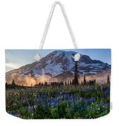 Rainier Wildflower Meadows Pano Weekender Tote Bag