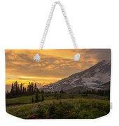 Rainier Wildflowers Meadow Sunset Weekender Tote Bag