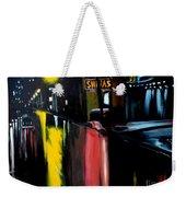 Raining Night In The City Weekender Tote Bag