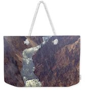 Rainstorm Over Grand Canyon Of The Yellowstone Weekender Tote Bag