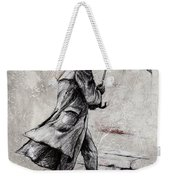 Rainy Day #07 Drawing Weekender Tote Bag by Emerico Imre Toth