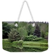 Rainy Day At The Pond Weekender Tote Bag