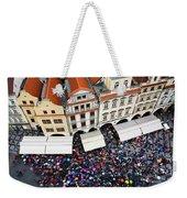 Rainy Day In Prague-1 Weekender Tote Bag by Diane Macdonald